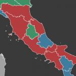 elezioni regionali in italia mappa