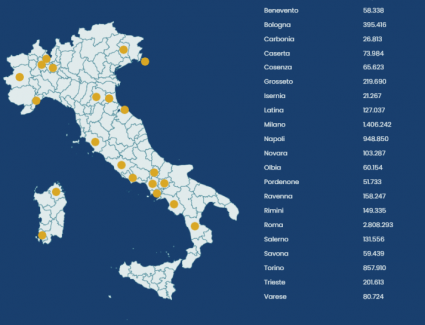 elezioni comunali 2021 mappa